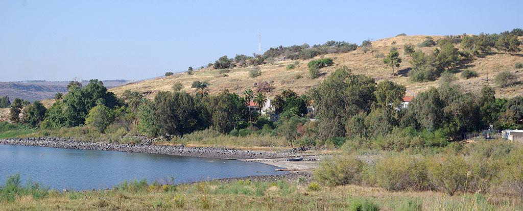 See Genezareth bei Tabgha, Blick von Dalmanuta.