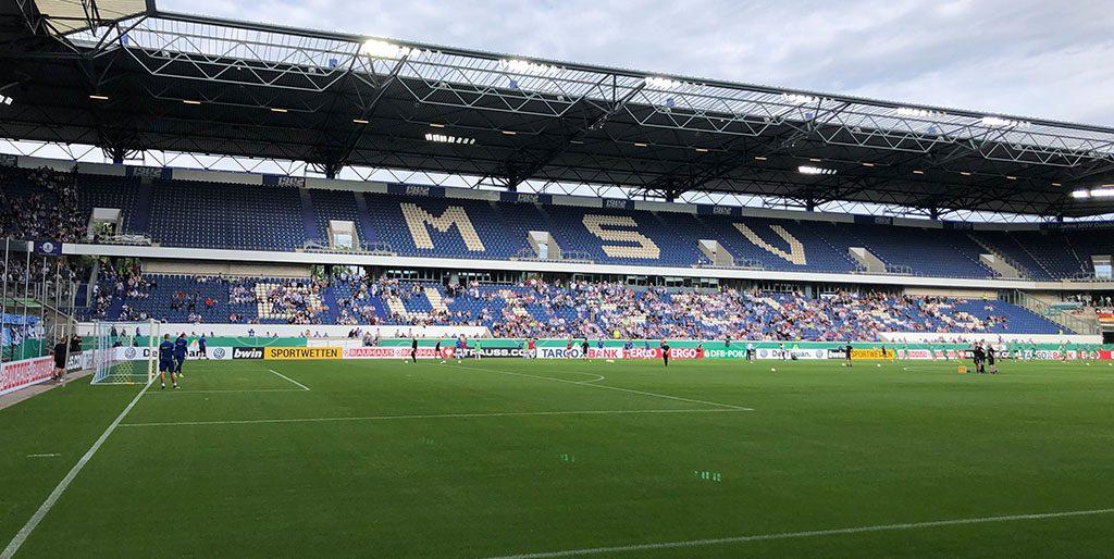 Das MSV Stadion mit seinem grünen Rasen ist von Innen zu sehen, für mich ein Sinnbild meiner heutigen Spontanität.